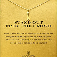 "Dogeared ""Stand Out From The Crowd"" Giraffe Necklace, Gold Dipped 16"""