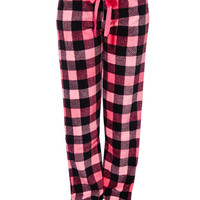 Pretty in Plaid Plush Pants | Wet Seal