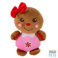 Martha Stewart Pets® Gingerbread Girl Holiday Dog Toy - Plush, Squeaker | Toys | PetSmart