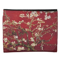 Almond Blossoms Red Vincent van Gogh Art Painting Wallets