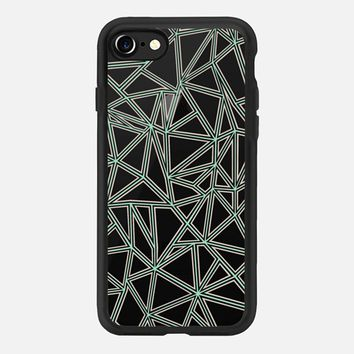 Abstract New Mint and Nude Transparent iPhone 7 Case by Project M | Casetify