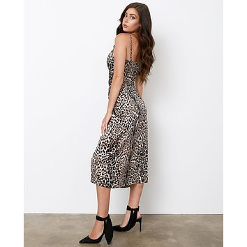 Amore Mio Slip Dress - Leopard
