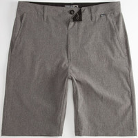 Nitrous Black Admiral Mens Hybrid Shorts - Boardshorts And Walkshorts In One Charcoal  In Sizes