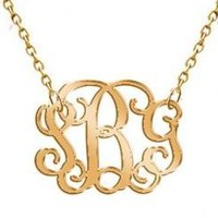 Monogram Hand Made Custom Acrylic Gold Mirror