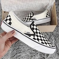Vans Old School Casual Checkerboard Pattern Canvas Flats Sneakers Sport Shoes