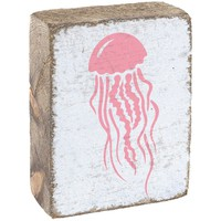 Jellyfish | Wood Block Sitter | 6-in