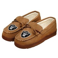 NFL Oakland Raiders Moccasin Slipper Tan