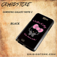 Hello Kitty Snap on 2D Black and White Or 3D Suitable With Image For Samsung Galaxy Note 2 Case