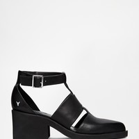 Windsor Smith Wiild Leather Cut Out Buckle Shoes