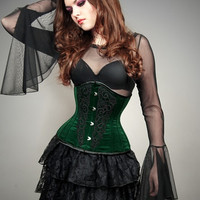 Black mesh blouse goth huge sleeves witch