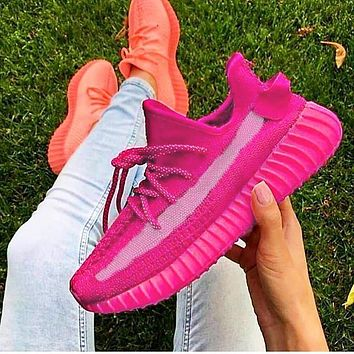 Vsgirlss ADIDAS YEEZY 350 BOOST Shoes Pink SHOES SPORTS SNEAKERS Rose red