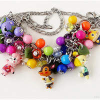 RESERVED for pemzee - Animal Crossing New Leaf, Charm Bracelet and Necklace Set, Convertible - Kawaii Necklace, Gamer Girl
