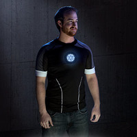 Iron Man 3 Deluxe Hero Tony Stark Light-Up LED Shirt