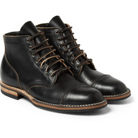 Viberg - Rubber-Soled Leather Lace-Up Boots | MR PORTER