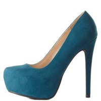 Almond Toe Platform Pumps by Charlotte Russe