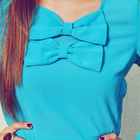 Time For Bow And Tell Blouse: Jade | Hope's