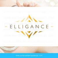 OOAK Premade Logo Design - Golden Pyramid - Perfect for a high end jewelry brand or a leather artisan
