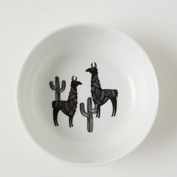 Porcelain Bowl with Motif - White/llamas - Home All | H&M US