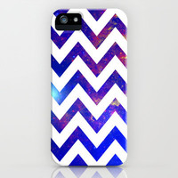 Galaxy Chevron iPhone Case by Robby Tate