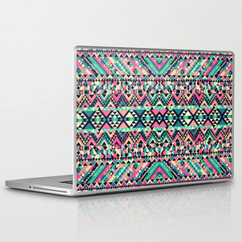 Pink Turquoise Girly Aztec Andes Tribal Pattern Laptop & iPad Skin by Railton Road   Society6