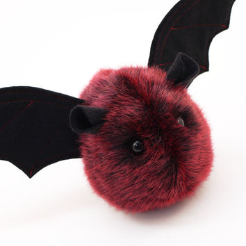 Ruby the Red and Black Bat Stuffed Animal Plush Toy