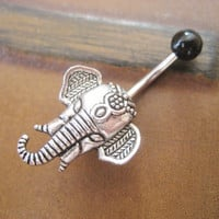 Elephant Belly Button Ring Jewelry Navel Piercing Stud Bar Barbell