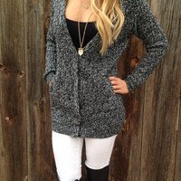 Marled Button Down Cardigan