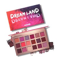 UCANBE Shimmer Matte Dreamland Eyeshadow Makeup Palette 18 Color Purple Pink Pigment Eye Shadow Powder Waterproof Cosmetic Kit