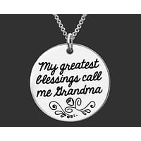 My Greatest Blessings Necklace | Grandma Gift