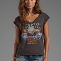 Junk Food KISS Underground V-Neck Tunic in Black from REVOLVEclothing.com