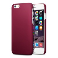 iPhone 6S Case, Terrapin [Extra Slim Fit] Hybrid Rubberized Protective Hard Case for iPhone 6 / 6S (Solid Red)