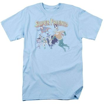 Mens DC Comics The Super Friends Retro Tee Shirt