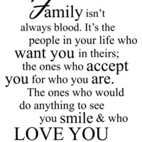 Family Is Always Blood