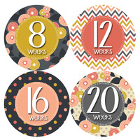 Pregnancy Baby Bump Week Stickers Style #915