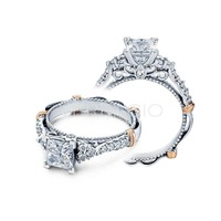Ladies Verragio Diamond Engagement Ring in White and Pink Gold   Bridal