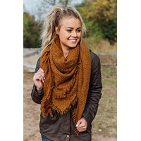 Worth The Wait Blanket Scarf-Camel