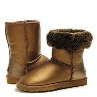 UGG Fashion Plush leather boots boots in tube Boots-3