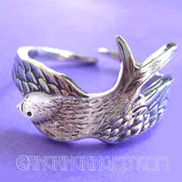 Bird wing ring - 925 solid Sterling silver 072012