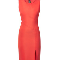 Veronica Beard Persimmon Cutout Sheath Dress