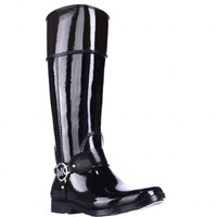 MICHAEL Michael Kors Fulton Harness Tall Rainboots - Black/Coffee