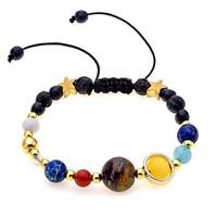 Natural Stone Beads Guardian Star Bracelet