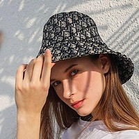 Dior CD new bucket hat fashion men and women all-match sunscreen fisherman hat