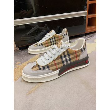 Burberry Men Fashion Boots fashionable Casual leather Breathable Sneakers Running Shoes06090cc