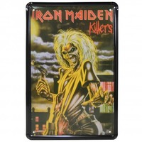 Iron Maiden Killers Metal Sign   Vintage Inspired