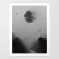 Death From Above Art Print by TwO Owls
