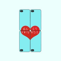 Best Friends -- 4pcs iphone 5 Case or iPhone 4  case  in two pairs, with durable black or white plasic and silicone