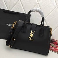 ysl women leather shoulder bags satchel tote bag handbag shopping leather tote crossbody 56