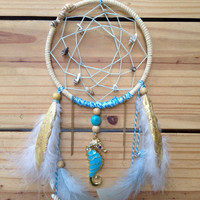 Ocean Dreamin' sea themed dream catcher decor