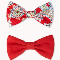 FOREVER 21 Paisley Pop Hair Clip Set Red/Multi One