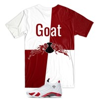 Goat Tee - Red/White